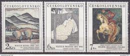 Poštovní známky Èeskoslovensko 1988 Umìní Mi# 2979-81 Po# 2870-72