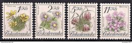 Poštovní známky Èeskoslovensko 1991 Kvìtiny Mi# 3098-3101 Po# 2990-93