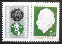 Poštovní známka Maïarsko 1982 Jiøí Dimitrov Mi# 3556