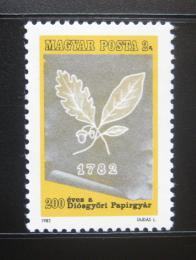 Poštovní známka Maïarsko 1982 Papírny Diosgyor Mi# 3564