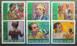 Poštovní známky Guinea 1970 Boj proti neštovicím neperf. Mi# 553-58 B