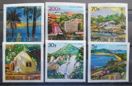 Poštovní známky Guinea 1967 Pøírodní scenérie neperf. Mi# 437-42 B