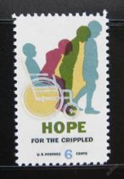 Poštovní známka USA 1969 Nadìje pro zmrzaèené Mi# 996