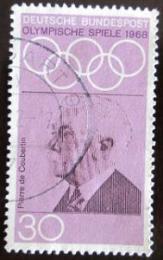 Poštovní známka Nìmecko 1968 Pierre de Coubertin Mi# 563