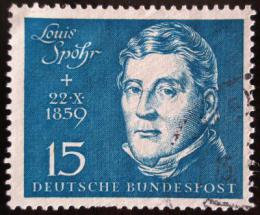 Poštovní známka Nìmecko 1959 Louis Spohr, skladatel Mi# 316 Kat 7.50€
