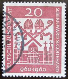 Poštovní známka Nìmecko 1960 Katedrála Hildesheim Mi# 336