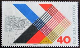 Poštovní známka Nìmecko 1973 Francouzsko-nìmecká spolupráce Mi# 753