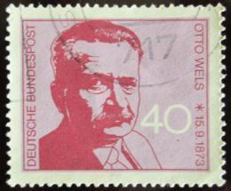 Poštovní známka Nìmecko 1973 Otto Wels, politik Mi# 780