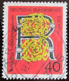 Poštovní známka Nìmecko 1973 Roswitha of Gandersheim, básníøka Mi# 770
