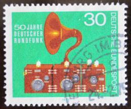 Poštovní známka Nìmecko 1973 Staré rádio Mi# 786