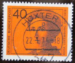 Poštovní známka Nìmecko 1974 Rosa Luxemburg, politièka Mi# 794
