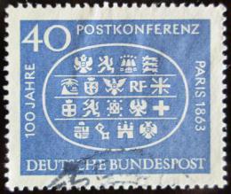 Poštovní známka Nìmecko 1963 Mezinárodní poštovní konference Mi# 398