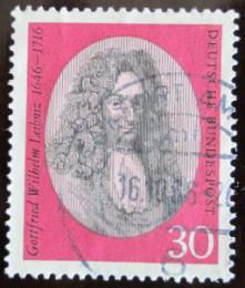 Poštovní známka Nìmecko 1966 G. W. Leibniz, filozof Mi# 518