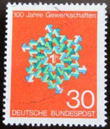 Poštovní známka Nìmecko 1968 Odborová organizace Mi# 570
