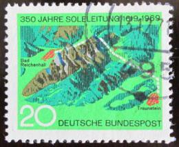 Poštovní známka Nìmecko 1969 Potrubí pro solanku Mi# 602