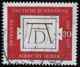 Poštovní známka Nìmecko 1971 Dürerùv podpis Mi# 677