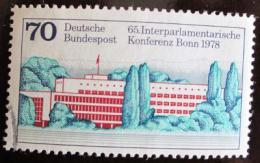 Poštovní známka Nìmecko 1978 Parlament, Bonn Mi# 976