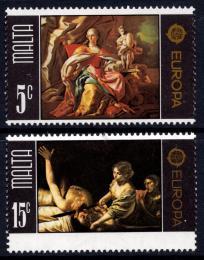 Poštovní známky Malta 1975 Evropa CEPT, umìní Mi# 512-13