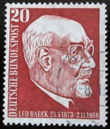 Poštovní známka Nìmecko 1957 Rabí Leo Baeck Mi# 278