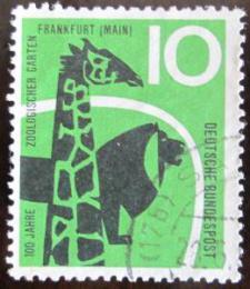 Poštovní známka Nìmecko 1958 Frankfurtská ZOO Mi# 288