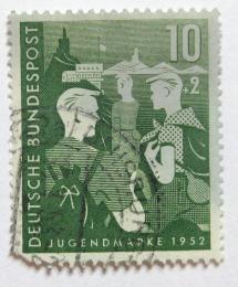 Poštovní známka Nìmecko 1952 Chlapci a hostel  Mi# 153 Kat 23€