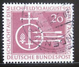 Poštovní známka Nìmecko 1955 Bitva na Lechfeldu Mi# 216 Kat 10€