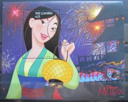 Poštovní známka Gambie 1998 Disney, Mulan Mi# Block 384