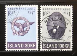 Poštovní známka Island 1971 Spoleènost patriotù Mi# 455-56