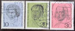Poštovní známky Nìmecko 1970 Osobnosti Mi# 616-18