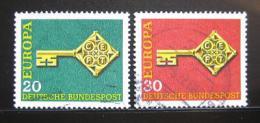 Poštovní známky Nìmecko 1968 Evropa CEPT Mi# 559-60