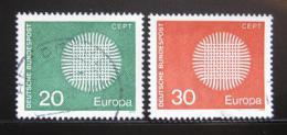 Poštovní známky Nìmecko 1970 Evropa CEPT Mi# 620-21