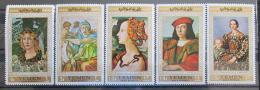 Poštovní známky Jemen 1967 Umìní Mi# 592-96 Kat 8.50€