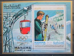 Poštovní známka Manáma 1971 ZOH Sapporo pøetisk Mi# Block 129 B Kat 15€