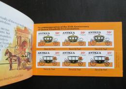 Sešitek Antigua 1978 Královské koèáry Mi# 510-12