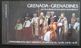 Sešitek Grenada Gren 1977 Korunovace královny Alžbìty II., 25. výroèí SC# 217a,220a