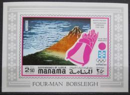 Poštovní známka Manáma 1971 ZOH Sapporo, ètyøbobob neperf. Mi# 395 B