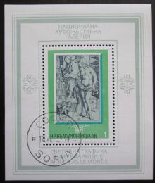 Poštovní známka Bulharsko 1975 Umìní Mi# Block 58
