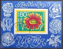 Poštovní známka Bulharsko 1974 Zahradní kvìtiny Mi# Block 50
