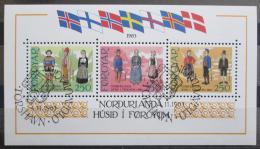 Poštovní známky Faerské ostrovy 1983 Národní kostýmy Mi# Block 1 Kat 11€