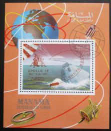 Poštovní známka Manáma 1969 Mise Apollo 10 pøetisk Mi# Block K 35 A