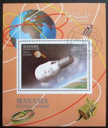 Poštovní známka Manáma 1968 Vesmírná loï Mercury Mi# 118 A Block