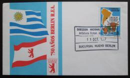 FDC Bolívie 1987 Založení Berlína, 750. výroèí