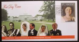 FDC Svatý Vincenc Gren. 2004 Královna Juliana s rodinou Mi# 6024