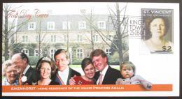 FDC FDC Svatý Vincenc Gren. 2004 Královna Juliana s rodinou Mi# 6024