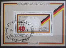 Poštovní známka Nìmecko 1974 Výroèí republiky Mi# Block 10