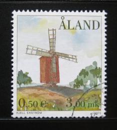 Poštovní známka Alandy 2001 Vìtrný mlýn Mi# 192