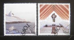Poštovní známky Faerské ostrovy 1998 Frederickschurch Mi# 345-46