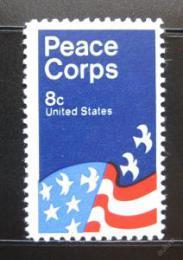Poštovní známka USA 1972 Plakát Mírové síly Mi# 1059