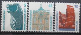 Poštovní známky Nìmecko 1990 Pamìtihodnosti Mi# 1448,1468-69