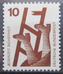 Poštovní známka Nìmecko 1972 Prevence nehod Mi# 696 A